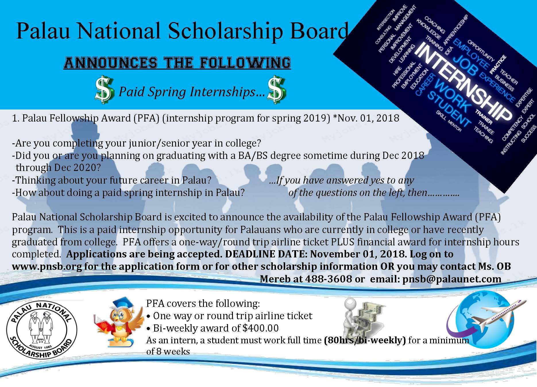 Attention Students… – Palau National Scholarship Board