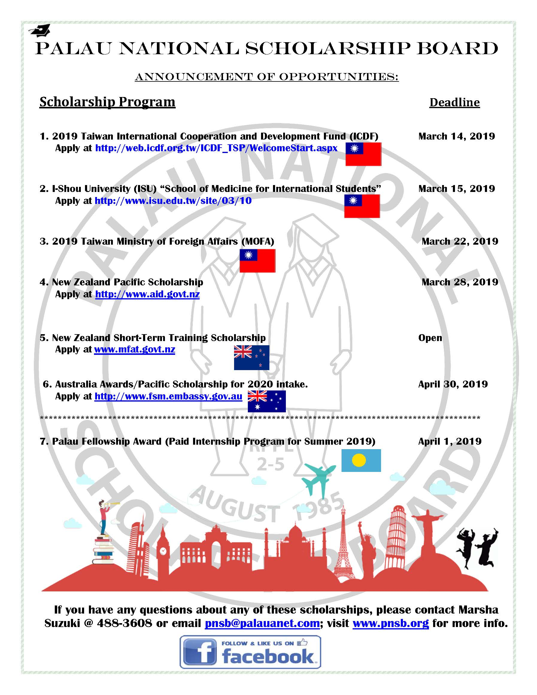 Available Scholarships for 2019! Hurry and apply now